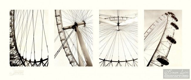 london eye composite image art print