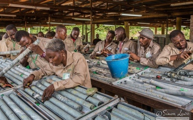 Geologists checking for gold-deposits Cote d'Ivoire