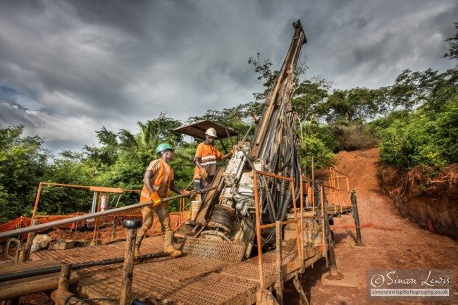 amara mining rig operators drilling bore samples
