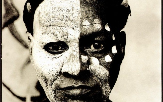 Mabi Thobejane with white decorated face